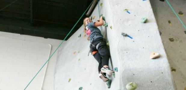 Michayla Medley, CCHS freshman, overcame the obstacles put before her during the CYSS quarterly FRIENDS meeting on Fort Hood, by making it all the way to the top of the rock wall.