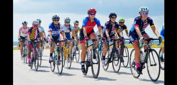 CCLP/LYNETTE SOWELL - Competitors in the Open category of the Fort Hood Challenge VIII take off on a 33-mile ride on Fort Hood Saturday afternoon. The two-day event brought hundreds of bicyclists to the Copperas Cove and Killeen area.