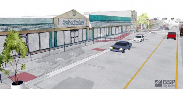 Courtesy Artwork - Downtown Copperas Cove will be getting a facelift and new sidewalks via a three-phase project tentatively set to begin in the late fall of 2016, the majority of which will be paid for via grant funding.