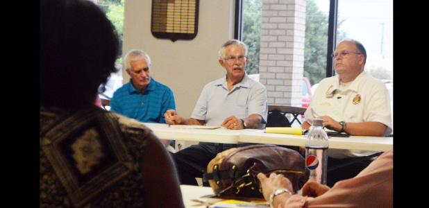 CCLP/LYNETTE SOWELL - Copperas Cove mayor Frank Seffrood addresses representatives of local community agencies and nonprofits at last Monday's meeting of the Greater Copperas Cove Community Agency Network at Grace United Methodist Church.