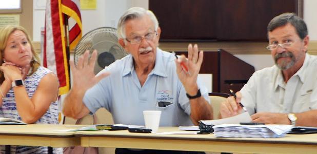 CCLP/LYNETTE SOWELL - Mayor Frank Seffrood speaks during Friday's city council workshop between the Copperas Cove city council and the Copperas Cove Economic Development Corporation.