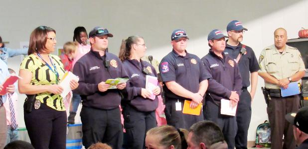 CCLP/BRITTANY FHOLER - First responders are recognized at the First Responders Appreciation concert held in the Fairview-Miss Jewell Elementary School cafeteria Thursday evening.