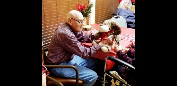 cclppamela grant nursing home residents enjoy their christmas gifts donated by the community of copperas cove