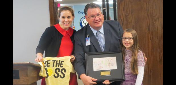 CCLP/BRITTANY FHOLER - Sophia Moore, a 4th grader at Clements Parsons, won the Lemonade Day Holiday Card contest.