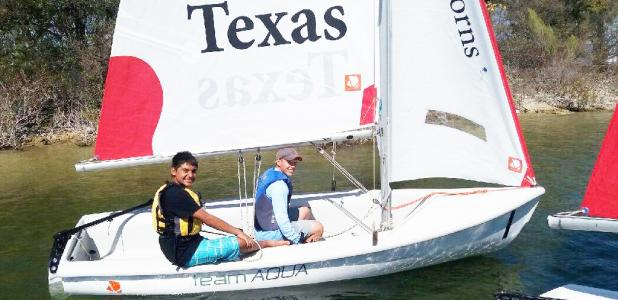 Courtesy photos/CCISD - Copperas Cove High School students Brett Alber and Eli Ortiz competed in the Austin Yacht Club High School Fall Classic Regatta on Lake Travis placing 12th.