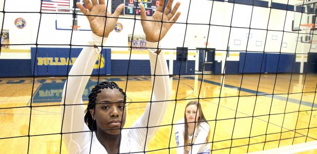CCLP/TJ MAXWELL -- Copperas Cove junior Chyanne Chapman, left, and senior Bailey French were recently named to the Texas Sports Writers Association All-State list. Chapman was voted Second Team Middle Blocker and French received Honorable Mention as a libero.
