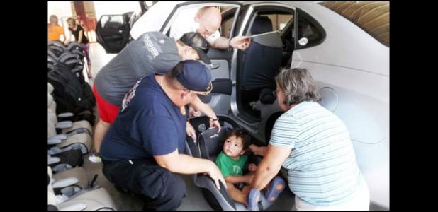 Cove Fire Department Teaches Car Seat Safety