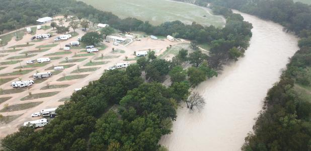 The Lampasas River rose above flood level during heavy rains earlier this week.