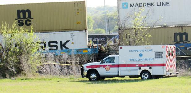 CCLP/BRITTANY FHOLER - First responders were on the scene after a BNSF Railroad train struck a 16-year-old Copperas Cove High School student who was crossing the tracks late Wednesday afternoon.