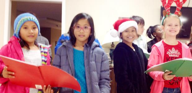 Courtesy Photo/CCISD - The Clements/Parsons Elementary Honor Choir shared its gift of song under the direction of music teachers Tino Sanchez and Ivan Calzada with the residents and staff of the Hill Country Nursing Home and Rehabilitation Center. Students sang Silent Night and other resident favorites reminiscent of the holiday season.