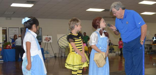 "CCLP/LYNETTE SOWELL - Joe Lombardi interviews entries into the Meet the City ""Oz"" costume contest. The annual Meet the City was apart of the day long festivities that included the State of the City luncheon."