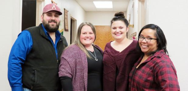 CCLP/DAVID J. HARDIN - New Coryell COunty Extension agents are Robert Ferguson, Bridgette Alvarado, Emily Holmes and Liz Espie.