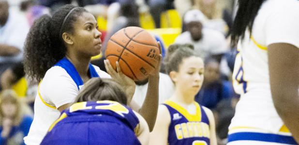 CCLP/TJ MAXWELL - Copperas Cove sophomore Oni Boodoo shoots a free throw in the fourth quarter of the Lady Dawgs' 69-44 win over the Granbury Lady Pirates. Boodoo notched a double-double (16 points, 10 rebounds) to lead the team to the win.