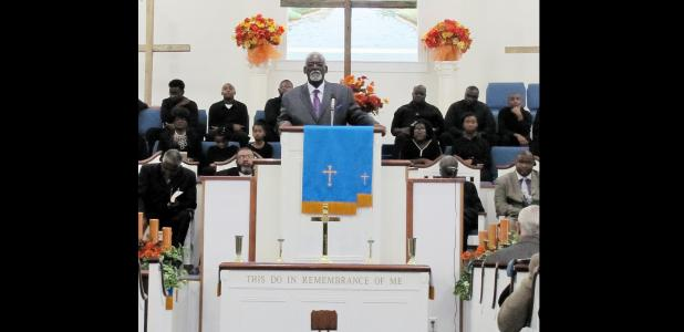 CCLP/PAMELA GRANT - Special guest speaker Reverend A.W. Anthony Mays spoke at Bible Way Missionary Baptist Church's special sermon following their annual Unity Walk.