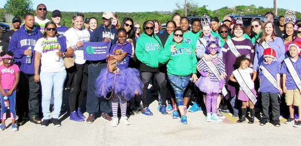 CCLP/PAMELA GRANT - Dozens showed up to support Team J. Lyons' second Walk For Lupus at Ogletree Gap Park on Saturday.