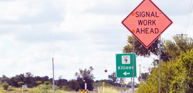 CCLP/LYNETTE SOWELL - The Texas Department of Transportation has begun work on the installation of stop lights at the intersection of F.M. 116 and State Highway 9. The lights should be operational by the end of October, weather permitting.