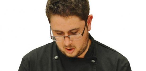 CCHS alum and executive chef Matt Cranfill juliennes some peppers in the Shilo Inn kitchen. Cranfill recently won the title of Top Chef at the Flavors of Central Texas.