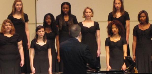 Copperas Cove High School choir teams meet at Lea Ledger Auditorium Thursday for a pre-UIL choir concert.