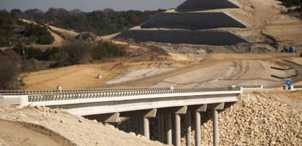 Construction on the South bypass is at 88 percent completion after three years of work. Scheduled completion is the fall of 2014.