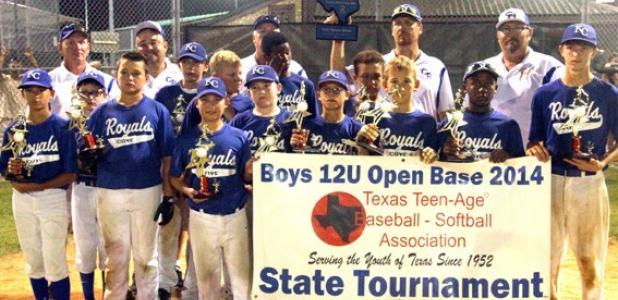 The 12U Copperas Cove Royals finished secondout of 14 teams at  the 2014 Texas Teenage Baseball 12U Open Base State Tournament in Belton last week. Out of more than 500 12U teams in Texas, the Royals finished in second place.