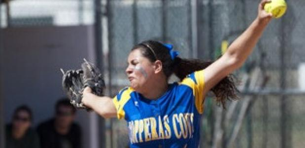 Copperas Cove junior Carlee Duran gave up 10 runs on 10 hits before being replaced in the fourth inning of play.