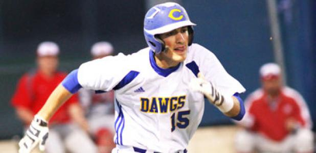 Copperas Cove senior Kyle Winstead charges towards first during their loss to Belton Friday in Copperas Cove. The Bulldawgs (9-5-1, 2-2) will travel to Ellison tonight to take on the Eagles.