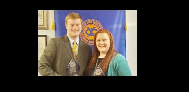 Allen Dees and Kaitlynn Blalock were selected by the morning club as the Youth of the year.