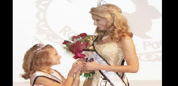 Junior Miss Winner Kaylie Nicole Pietras shows excitement as her mom, Brandi Foster, wins Ms. Rabbit Fest!