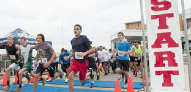 Fastest runners of the race take an early start during Sunday's Silver Classic at Metroplex Hospital.