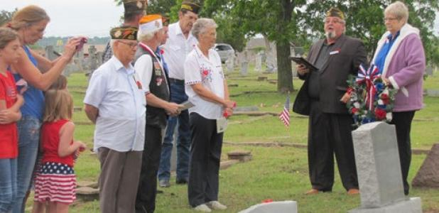 Members of the VFW Post 8577 pay tribute to the fallen veterans laid to rest in the Copperas Cove City Cemetery, Monday morning.