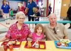CCLP/PAMELA GRANT - Holly Trevathan attended lunch with her grandparents, Donald and Karen Kaylor, for Grandparents Day at Williams/Ledger Elementary.