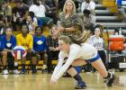 CCLP/TJ MAXWELL -- Copperas Cove senior libero Bailey French dives for one of her game-high 23 digs against Shoemaker of Tuesday. The Lady Dawgs swept Shoemaker 3-0 (25-18, 25-7, 25-10) to set up a battle for the top team in District 12-6A tonight when the Midway Pantherettes come to town.