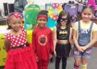 Courtesy Photo/CCISD Hettie Halstead Elementary students Kaylah Hill, Jayvyon Adams, Annabelle Williams, and Mia Carreon dress as their favorite book characters during Children's Book Week. The event is one of many the school does to encourage children to keep reading.