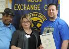 COURTESY/SUSAN AYRES - The Noon Exchange Club inducted three new members during the May 27 meeting. Ira Brand, Marsha Siller and David Morris.