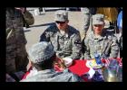 CCLP/CHUCK TAYLOR - Troops enjoy lunch at USO party last week.
