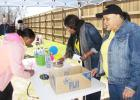 CCLP/PAMELA GRANT - Thanks For The Little Things, Inc (TFTLT) held a Donate & Receive event on Saturday. Donors were invited to write their names on decorative paper which will later be displayed.