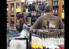 CCLP/PAMELA GRANT - Customers check out the selection at C & C Sporting Goods at the Customer and Coach Appreciation Day on Saturday.