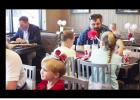 CCLP/PAMELA GRANT - Fathers and their daughters enjoy the princess themed Daddy/Daughter Date Night offered by Chick-fil-A Saturday evening.
