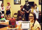 "CCLP/PAMELA GRANT - Kira Hammon won a participation prize in the Cake Contest at GeekFest for her cake ""Villainous Eyes."""