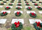 CCLP/PAMELA GRANT - Thousands showed up to lay wreaths honoring veterans at the Central Texas State Veterans Cemetery on Saturday.