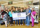 CCLP/LYNETTE SOWELL - The Copperas Cove Chamber of Commerce Ambassadors present Pet Supplies Plus with the business of the month for January banner during a presentation last Wednesday.