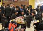 CCLP/LYNETTE SOWELL - Students take a break after a morning of competition at the DECA Region V district conference held Saturday at Copperas Cove High School. Nearly 1,000 students came from 26 area high schools to compete for a shot to advance to the state competition in San Antonio.