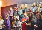 """CCLP/LYNETTE SOWELL - The Copperas Cove Junior High School choir sings """"Silent Night"""" in several languages and performs it using sign langugage on Friday night at Krist Kindl Markt in downtown Copperas Cove."""