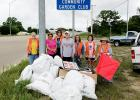 On Saturday the Browning Community Garden Club of Kempner successfully completed its Texas Trash Off project. Several bags of litter were collected from the two-mile strip of road the club has adopted on F.M. 2657.