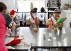 Royalty from the Copperas Cove Rabbit Fest Scholarship Pageant decorate cupcakes during a visit to Bits N Bites shop, Wednesday afternoon.  The specialty cake shop will be the after party sponsor for the inaugural Five Hills Scholarship Pageant on May 13 at Lea Ledger Auditorium.