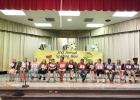 Courtesy Photo/CCISD Williams/Ledger Elementary first and second grade students are lined up and ready to participate in the school's second annual spelling bee. The 15 students selected to compete are members of the school's spelling club and have practiced for months before and after school.
