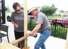 CCLP/DAVID J. HARDIN <br> Danny Smith of Ace Hardware builds a lemonade stand during the Build-A-Stand workshop on Saturday at Copperas Cove Chick-fil-A. The event showed kids how to build their own lemonade stand and prepared them for Lemonade Day 2017 on May 6.