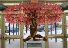 CCISD - Mae Stevens Early Learning Academy PTO volunteers created a tree from brown paper and then covered it in more than 100 pink bows. The Tree of Hope was erected to draw awareness to breast cancer. More than half of CCISD schools decorated in pink for October.