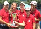COURTESY PHOTO - Copperas Cove Junior High student Elle Fox, center, poses with her Texas/Mexico Cup teammates after the successfully defended the cup for the third time in as many attempts. Fox is currently competing in the USGA Women's Amateur Qualifier in Carefree, Arizona.