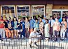 """Courtesy/Cinemahill Studios - The cast and crew of """"1040 Not So EZ"""" gathered for script readings for several months at the Copperas Cove Shipley Do-Nuts. The feature film debuts Thursday night at Cinergy Cinema."""